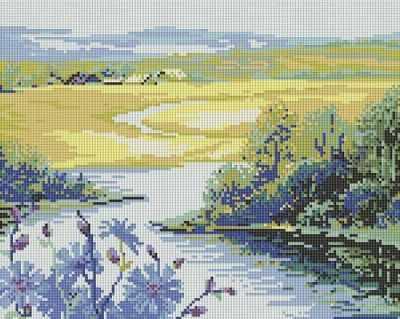 112-ST Река и поле (Белоснежка) - Мозаика «Белоснежка»