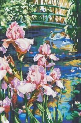 191-ST Садовый пруд (Белоснежка) - Мозаика «Белоснежка»
