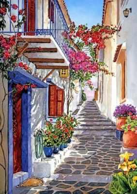 Вверх по улице (АЖ-1147) - Мозаика из страз «Алмазная живопись»