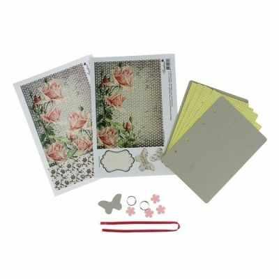 1552459 Набор для создания блокнота  Роза с корицей  - Товары для квиллинга
