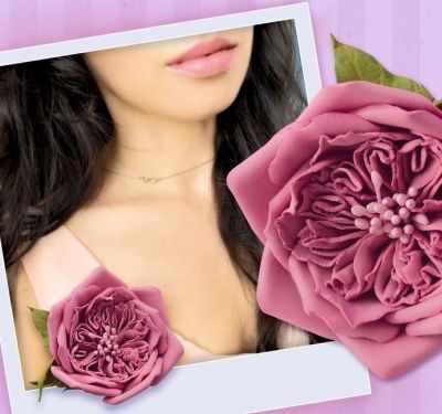 """1675789 Набор для создания броши из фоамирана """"Пудровая роза"""""""