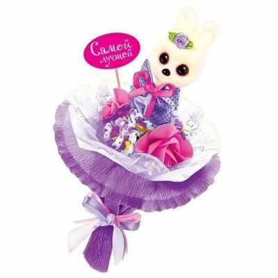 1675793 Набор для создания букета из игрушек и цветов Зайчонок
