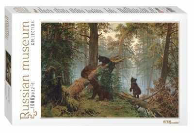 79218 Мозаика puzzle 1000 Утро в сосновом лесу (Русские музеи new)