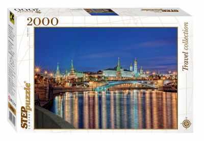 84024 Мозаика  puzzle  2000  Москва. Набережная  - Пазлы