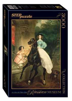 85202 Мозаика  puzzle  3000  Всадница  (Русские музеи) - Пазлы