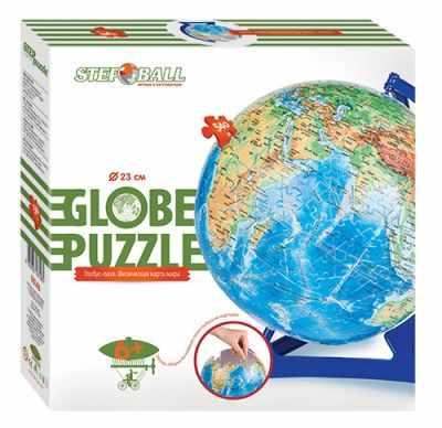 98146 Мозаика puzzle 540 Глобус-пазл. Физическая карта мира (Пазл-шар)
