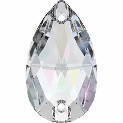 3230 Стразы пришив. Сваровски Crystal AB 18 х 10.5 мм, перламутр (Crystal 001)
