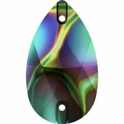 3230 Стразы пришив. Сваровски Crystal AB 18 х 10.5 мм, т.радужный (rainbow dark RABDK)
