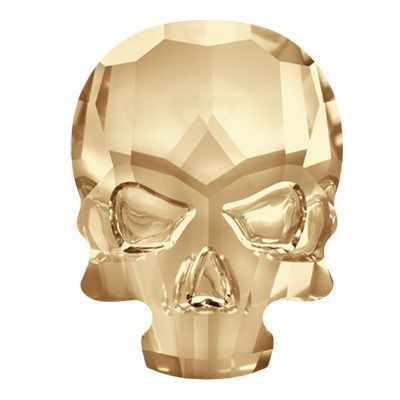 2856 Стразы неклеевые Сваровски Crystal AB 10.5 х 14 мм, св.золото (001 GSHA)