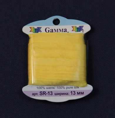 Ленты Gamma SR-13 13 мм Лента декоративная Gamma шелковая №031 желтый ленты gamma sr 13 13 мм лента декоративная gamma шелковая 022 желтый