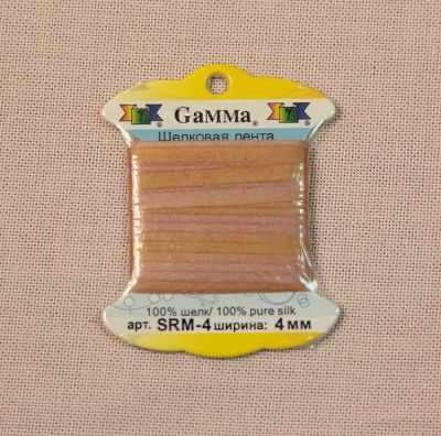 Фото - Ленты Gamma SRM-4 4 мм Лента декоративная Gamma шелковая M112 бронзовый/бл.коричневый ленты gamma srm 4 4 мм лента декоративная gamma шелковая m104 т розовый т красный