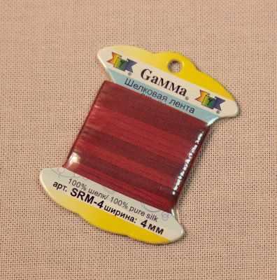 Фото - Ленты Gamma SRM-4 4 мм Лента декоративная Gamma шелковая M121 т.красный/бордовый ленты gamma srm 4 4 мм лента декоративная gamma шелковая m104 т розовый т красный