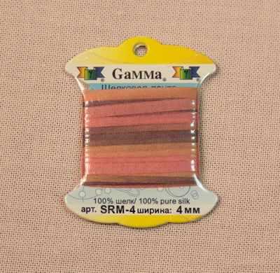 Фото - Ленты Gamma SRM-4 4 мм Лента декоративная Gamma шелковая M240 оранжевый/бордовый ленты gamma srm 4 4 мм лента декоративная gamma шелковая m104 т розовый т красный