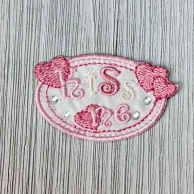 Аппликации Annet на клеевой основе № 7 (7-1169E kiss me розовый/бл.розовый 5,5*3,3)