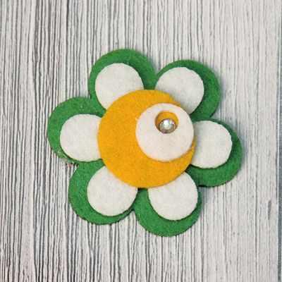 Аппликации Annet на клеевой основе № 7 (7-1239G цветок со стразой 4.3х4.3 см)