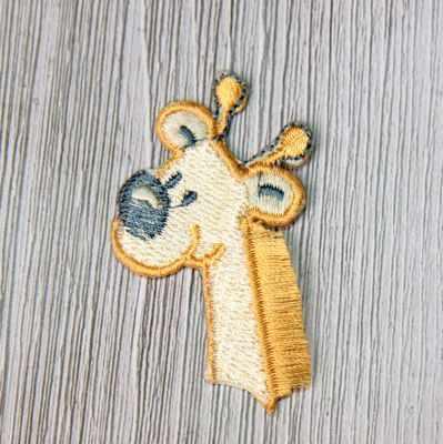 Аппликации Annet на клеевой основе № 7 (7-1245D жираф бл.оранжевый 3.5х3.5 см)