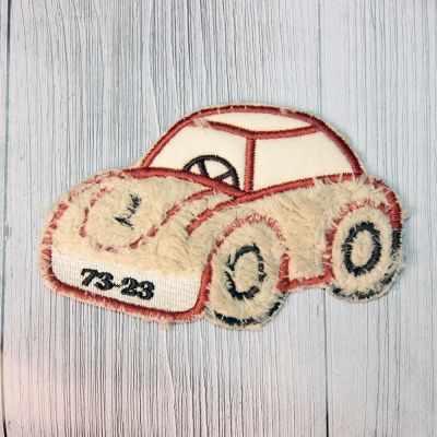 Аппликации Annet на клеевой основе №13 (13-1318 C автомобиль рыжий 12.2х8 см)