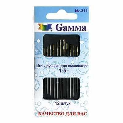 №1-5 N-311 Иглы ручные Gamma для вышивания