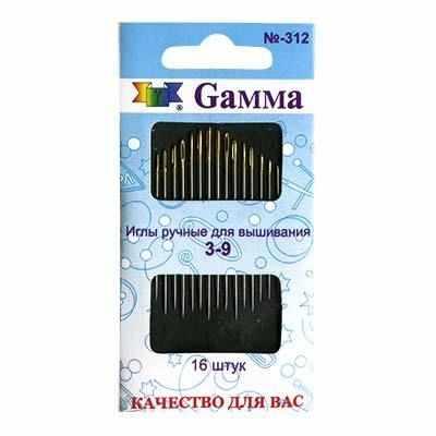 Игла Gamma №3-9 N-312 Иглы ручные Gamma для вышивания gamma gamma колготки для девочки черные