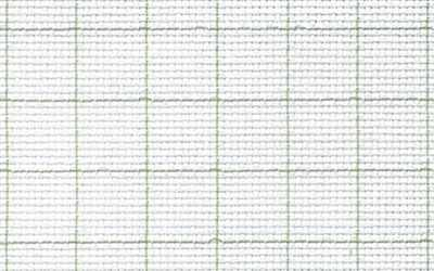 Канва Gamma К04R Аида белый в клетку 150*100 14ct 55/10 кл.