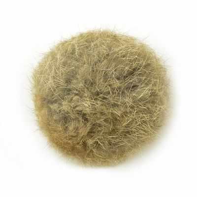 TBY.PNK046 Помпон натуральный. Кролик 6см цв.натуральный песочный