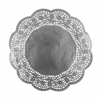 PDC-0002 Салфетки ажурные для тортов 8 шт. №02 под серебро