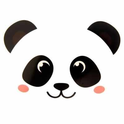 """1529754 Термонаклейка для декорирования текстильных изделий """"Панда"""""""