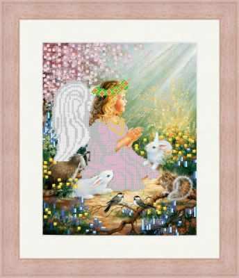 Основа для вышивания с нанесенным рисунком Матрёшкина КАЮ1407 Ангел с животными - схема для вышивания (Матрёшкина) основа для вышивания с нанесенным рисунком матрёшкина каю6016 лисичка