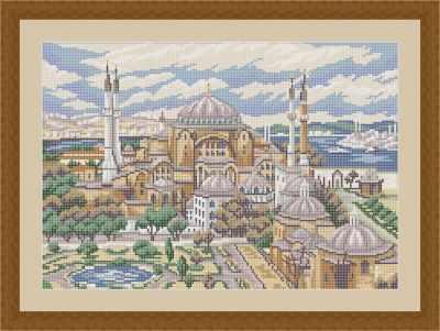 Основа для вышивания с нанесенным рисунком Матрёшкина КАЮ4041 Стамбул - схема для вышивания (Матрёшкина) основа для вышивания с нанесенным рисунком матрёшкина каю6016 лисичка