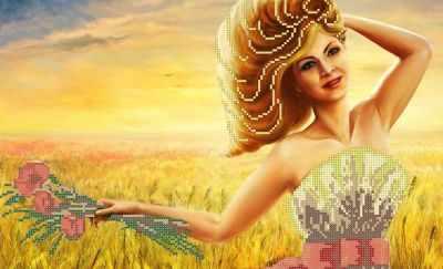 КАЮ3008 Дама осени - Схемы для вышивания «Матрёшкина»