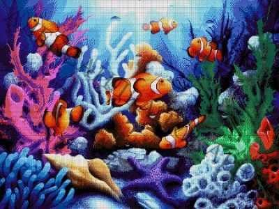 Набор для вышивания Александра Токарева 49-3072-НО Океанариум - набор для вышивания (А. Токарева)