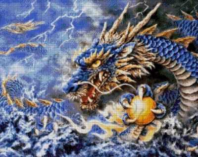 36-2688-НГ Голубой дракон  набор для вышивания (А. Токарева) - Наборы для вышивания Александры Токаревой