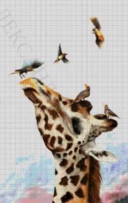 44-3312-НЖ Жираф  набор для вышивания (А. Токарева) - Наборы для вышивания Александры Токаревой