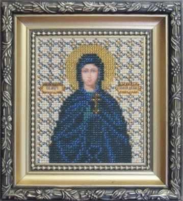 Б-1066  Икона Святой мученицы Иулии (Юлии)   чм - Наборы для вышивания икон «Чарiвна Мить»