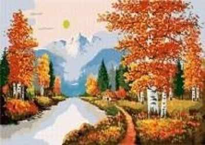 W-041 Пейзаж, Осень  мозаика Милато - Мозаика «Milato»