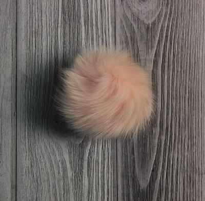 Помпон из меха песца Цвет. Пудра - Помпоны меховые