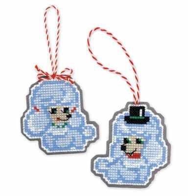 Набор для вышивания Риолис (Сотвори Сама) 1682АС Новогодние игрушки «Собачки»