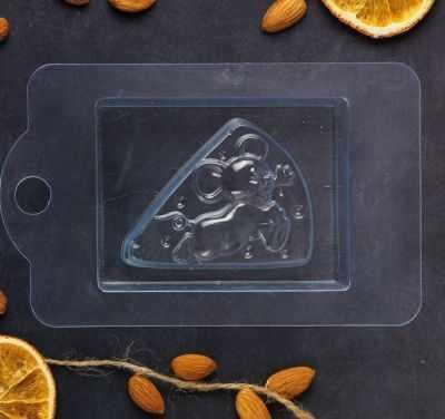 2334328 Пластиковая форма для мыла Сырная мышка
