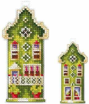 цена на Набор для вышивания Сделай своими руками Д-16 Домики.Оливковый домик