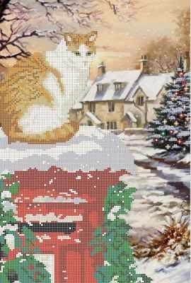 Основа для вышивания с нанесённым рисунком Мастерица КМЧ-3502 Новый год - схема для вышивания (Мастерица)