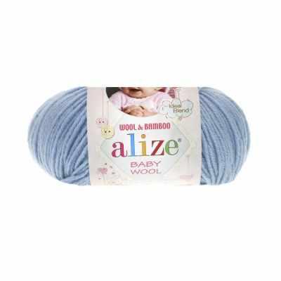 Пряжа Alize Пряжа Alize Baby Wool Цвет.350 Св.голубой