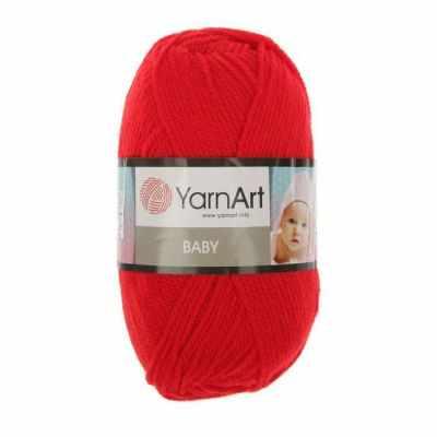 Фото - Пряжа YarnArt Пряжа YarnArt Baby Цвет.156 Красный пряжа yarnart пряжа yarnart tulip цвет 421 красный