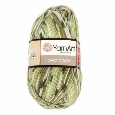 Пряжа YarnArt Пряжа YarnArt Crazy Color Цвет.115 Зелёный меланж