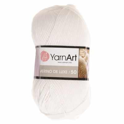 Пряжа YarnArt Пряжа YarnArt Merino De Luxe Цвет.501 Белый