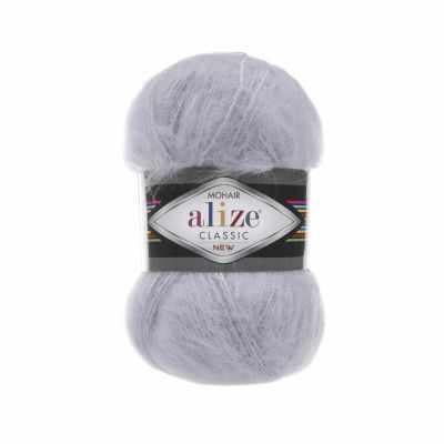 Пряжа Alize Пряжа Alize Mohair Classic New Цвет.52 Светло-серый
