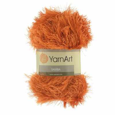 Фото - Пряжа YarnArt Пряжа YarnArt Samba Цвет.2024 Темно оранжевый платье oodji ultra цвет бордовый темно оранжевый 14015007 3b 37809 4959e размер xxs 40 170