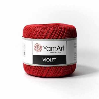 Фото - Пряжа YarnArt Пряжа YarnArt Violet Цвет.5020 Темно красный пряжа yarnart пряжа yarnart tulip цвет 421 красный