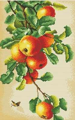 ALV-1 Кристальная мозаика (алмазная вышивка) 04  Наливные яблоки  - Мозаика «ФРЕЯ»