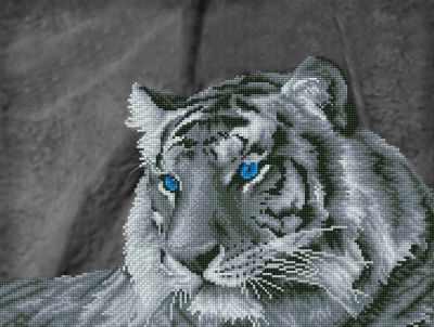 ALV-3 Кристальная мозаика (алмазная вышивка) 01  Загадочный тигр  - Мозаика «ФРЕЯ»