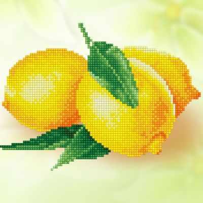 ALV-5 Кристальная мозаика (алмазная вышивка) 01  Лимоны  - Мозаика «ФРЕЯ»